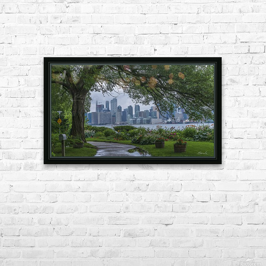 Downtown Toronto seen from Wards Island HD Sublimation Metal print with Decorating Float Frame (BOX)