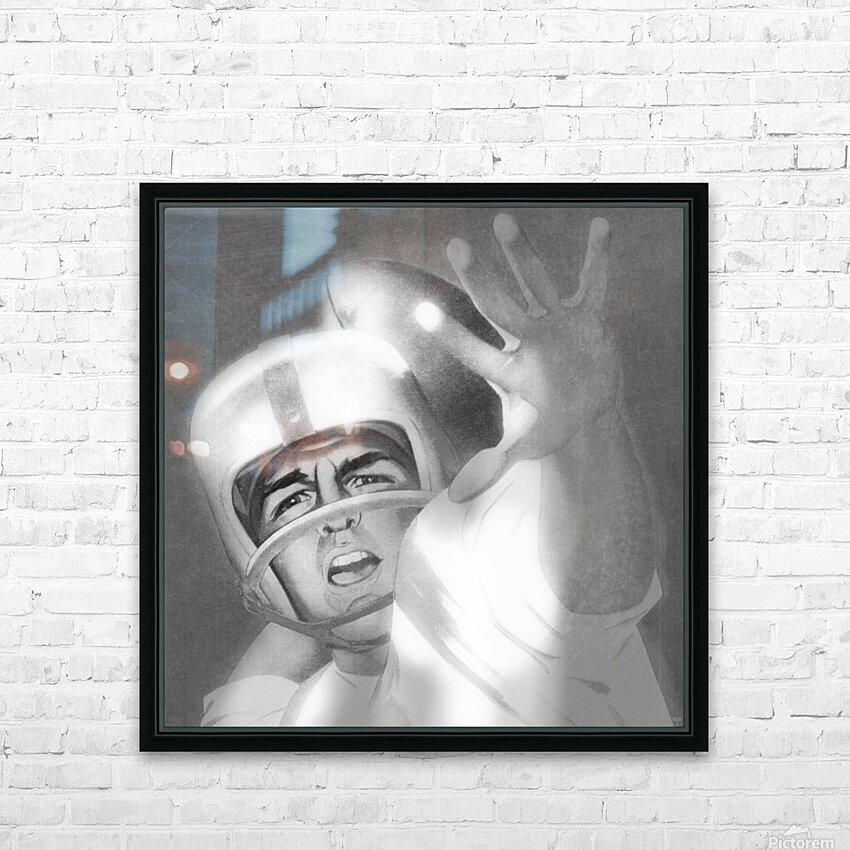 1960 Lon Keller Quarterback Remix Art HD Sublimation Metal print with Decorating Float Frame (BOX)