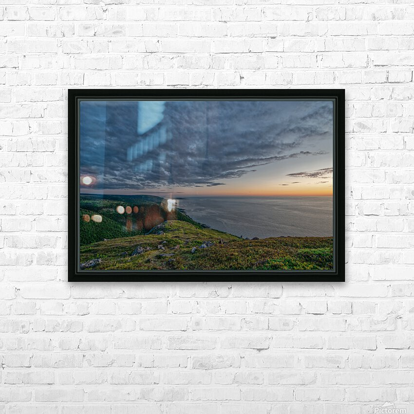 Blueberry Mountain Vista HD Sublimation Metal print with Decorating Float Frame (BOX)