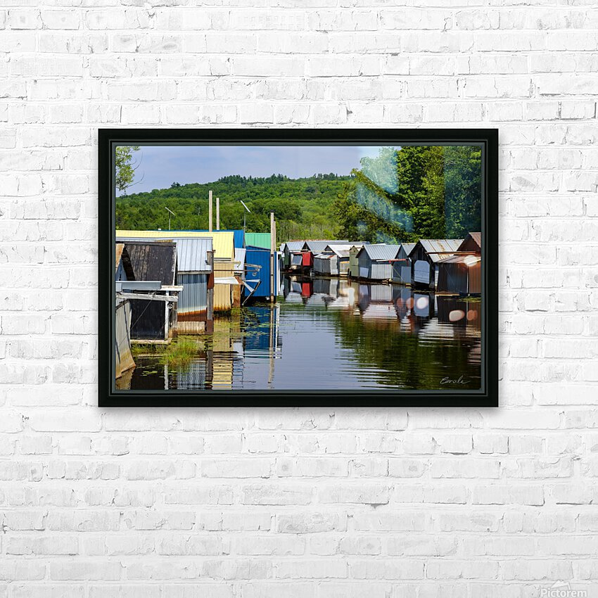 Hangars    bateaux - Boathouses HD Sublimation Metal print with Decorating Float Frame (BOX)