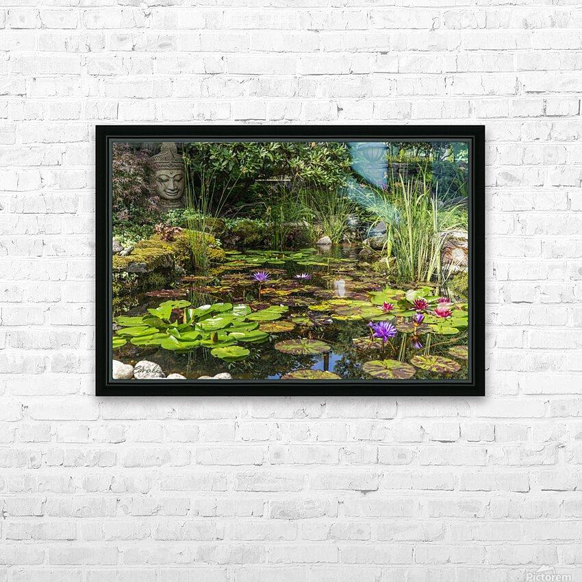 Divin Jardin d   eau   Divine Water Garden HD sublimation métal imprimé avec décoration flotteur cadre (boîte)