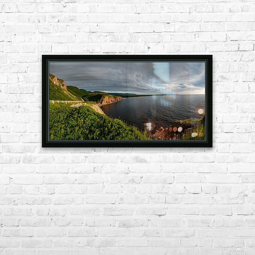 Cabot Trail View towards Cheticamp HD Sublimation Metal print with Decorating Float Frame (BOX)
