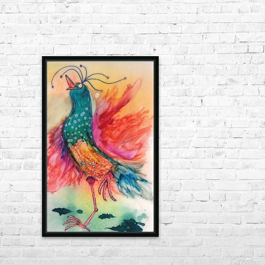 Chicken Dance HD Sublimation Metal print with Decorating Float Frame (BOX)
