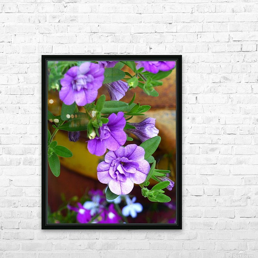 Purple Petals HD Sublimation Metal print with Decorating Float Frame (BOX)
