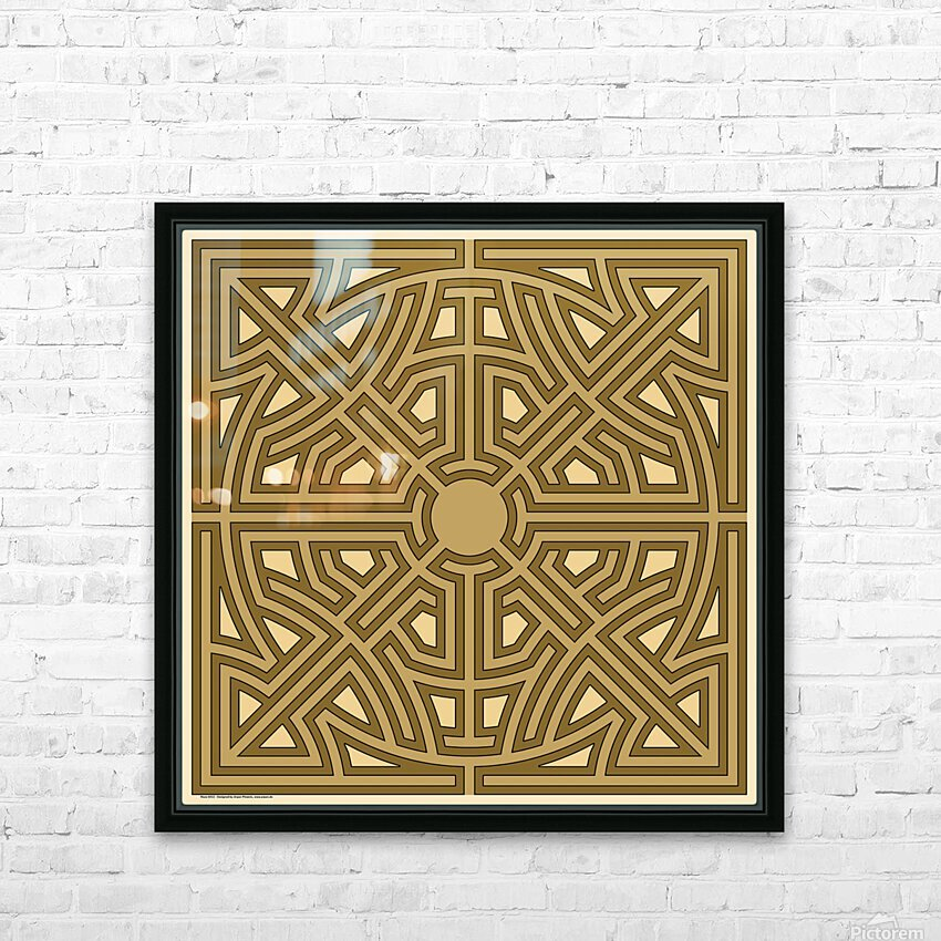 Maze 6012 HD Sublimation Metal print with Decorating Float Frame (BOX)