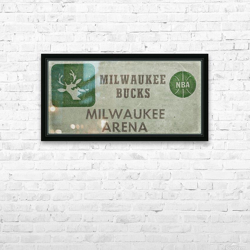1977 Milwaukee Bucks Ticket Stub Remix Art HD Sublimation Metal print with Decorating Float Frame (BOX)