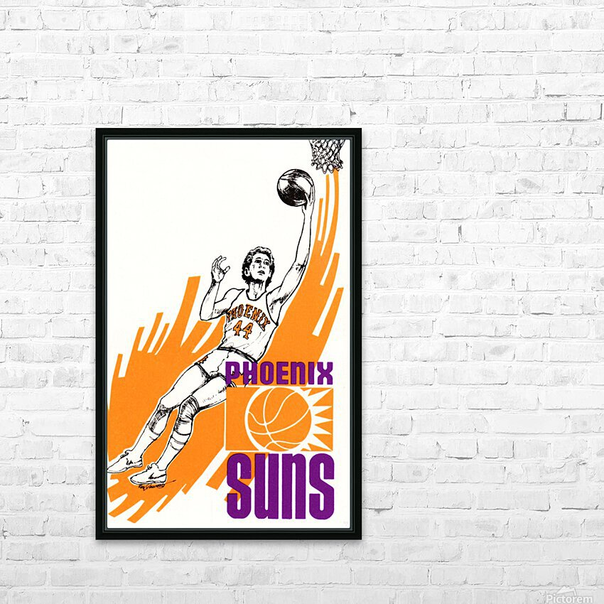 1977 Phoenix Suns Basketball Art HD Sublimation Metal print with Decorating Float Frame (BOX)