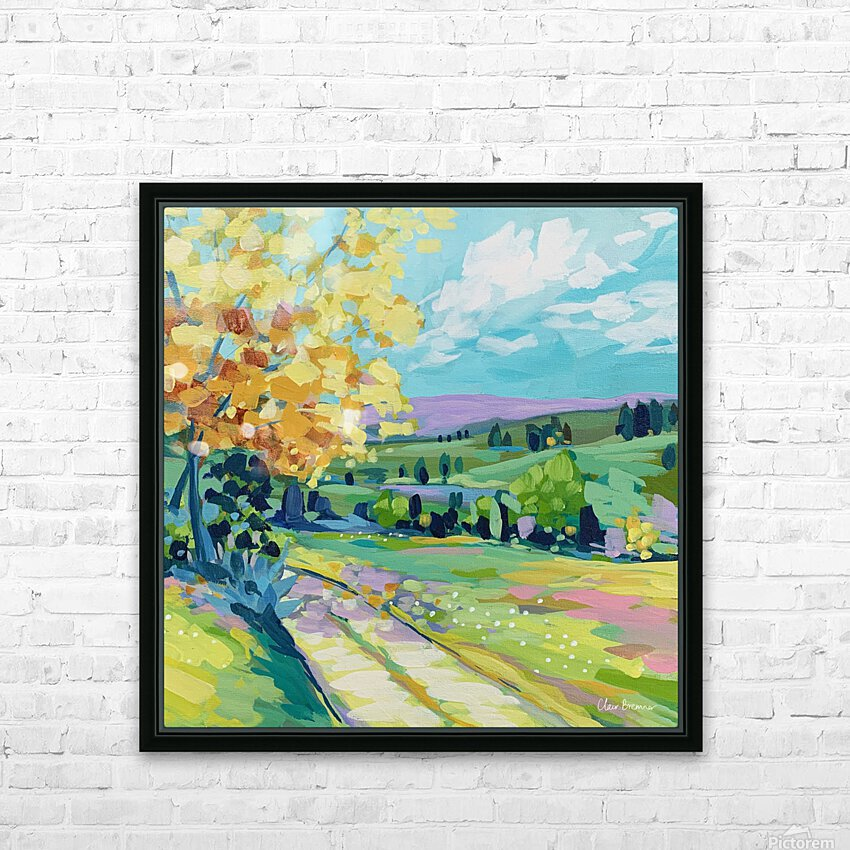 Farm Road HD Sublimation Metal print with Decorating Float Frame (BOX)