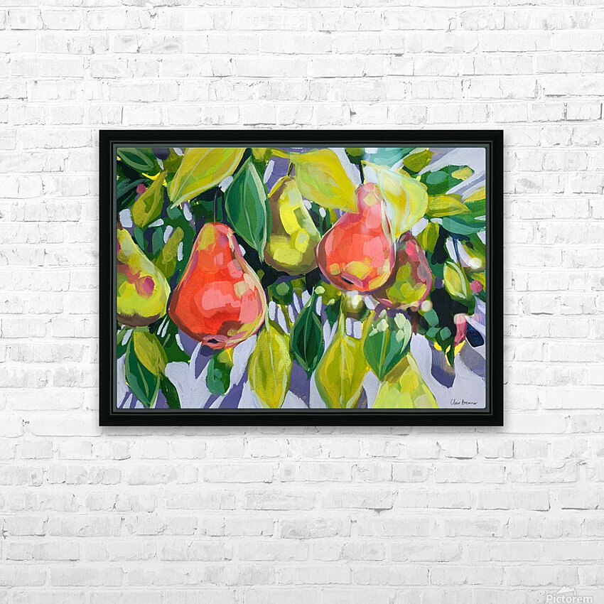 Too Many Pears HD Sublimation Metal print with Decorating Float Frame (BOX)