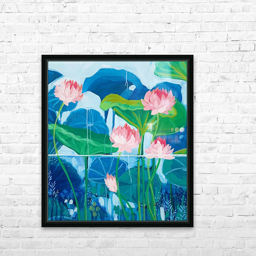 Up From Underneath HD Sublimation Metal print with Decorating Float Frame (BOX)