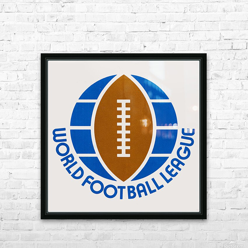 1974 World Football League Logo Art HD Sublimation Metal print with Decorating Float Frame (BOX)