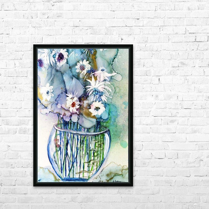 Blue Floral HD sublimation métal imprimé avec décoration flotteur cadre (boîte)