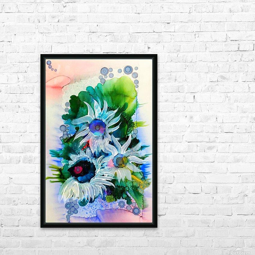 Floral Burst HD sublimation métal imprimé avec décoration flotteur cadre (boîte)