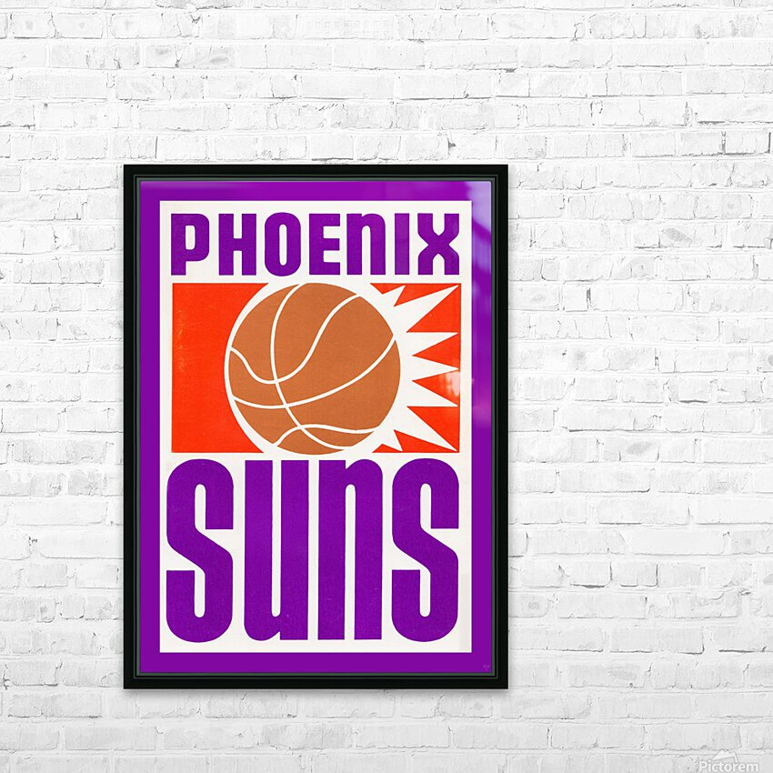 1970 Phoenix Suns Basketball Art HD Sublimation Metal print with Decorating Float Frame (BOX)