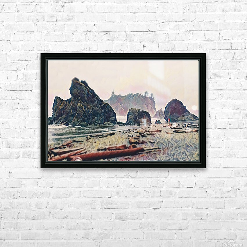 Ruby Beach HD Sublimation Metal print with Decorating Float Frame (BOX)