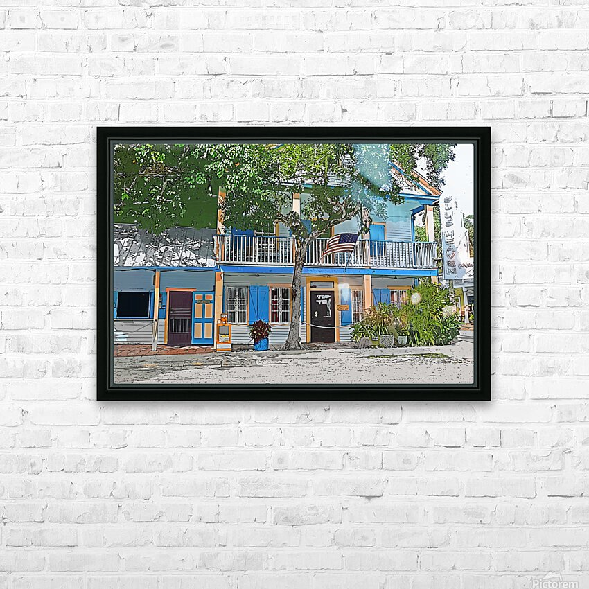 Blue Heaven  HD Sublimation Metal print with Decorating Float Frame (BOX)