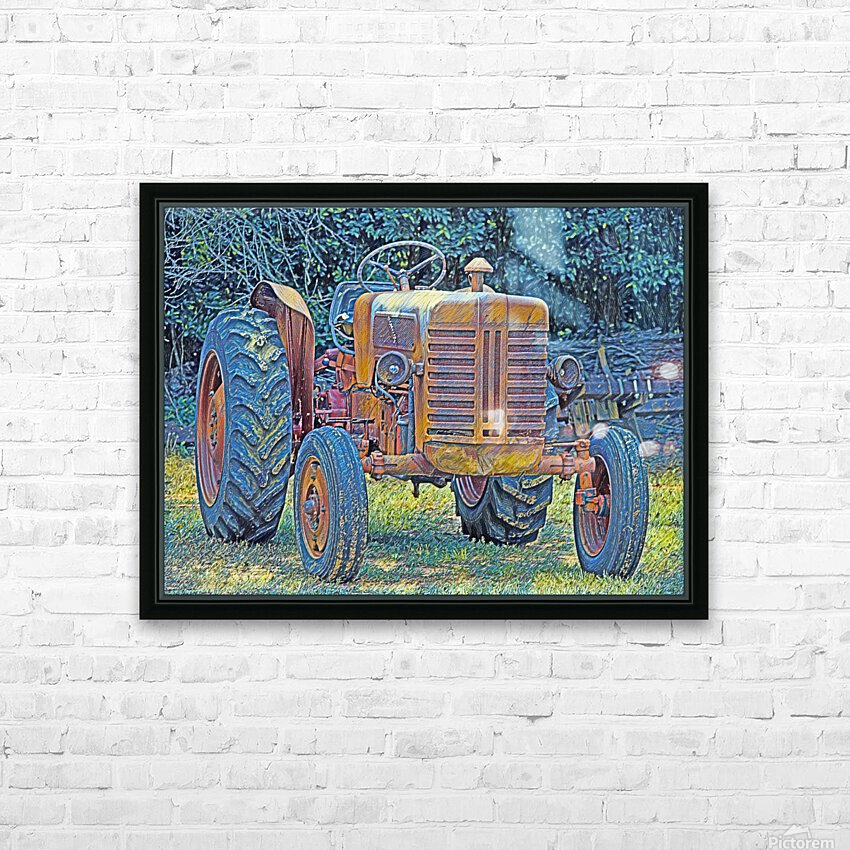 Tractor HD Sublimation Metal print with Decorating Float Frame (BOX)