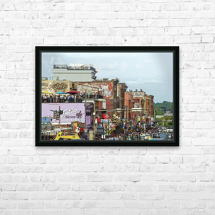 Nashville HD Sublimation Metal print with Decorating Float Frame (BOX)