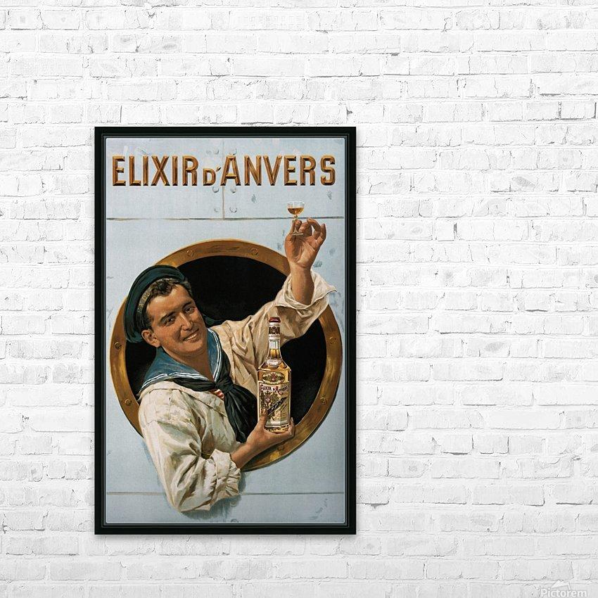 Elixir DAnvers Vintage Advertising Poster HD Sublimation Metal print with Decorating Float Frame (BOX)