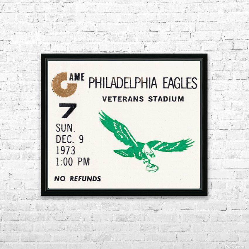 1973 Philadelphia Eagles Ticket Stub Remix Art HD Sublimation Metal print with Decorating Float Frame (BOX)
