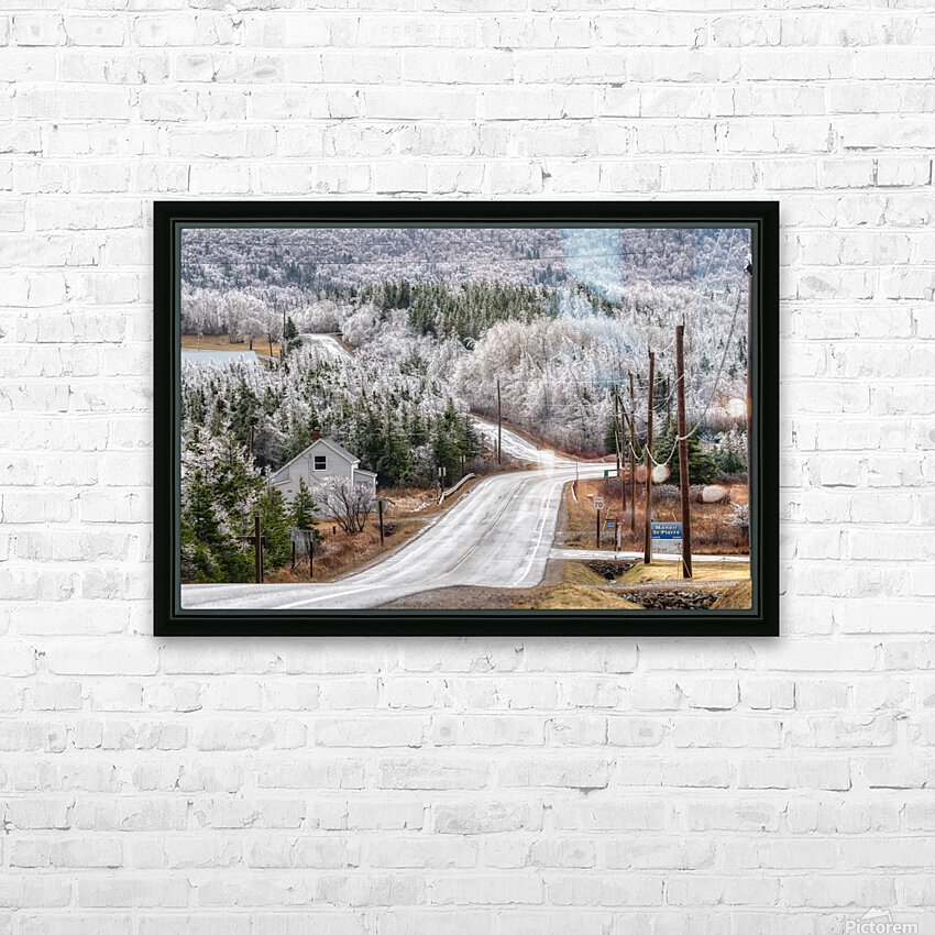 Cheticamp Ice Storm HD Sublimation Metal print with Decorating Float Frame (BOX)