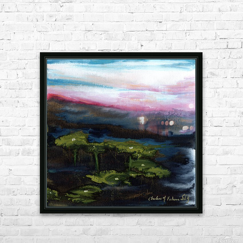 Channeling Monet HD Sublimation Metal print with Decorating Float Frame (BOX)