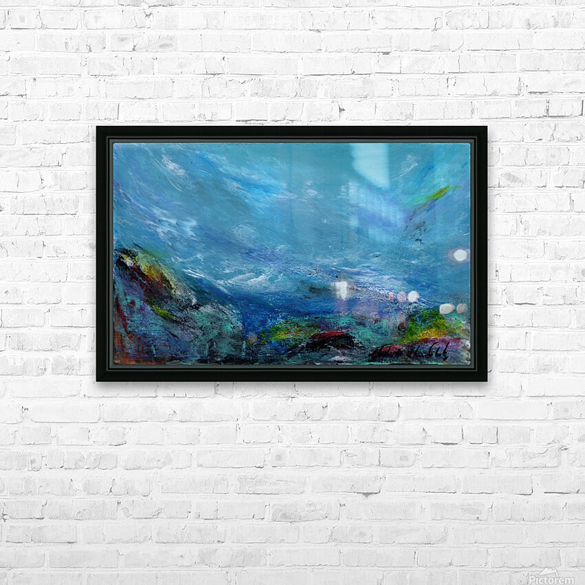 Adrift HD Sublimation Metal print with Decorating Float Frame (BOX)