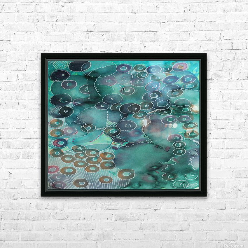 rings HD Sublimation Metal print with Decorating Float Frame (BOX)