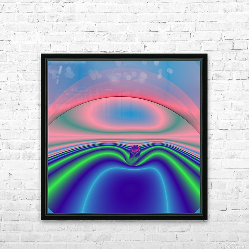 Boat to nowhere HD Sublimation Metal print with Decorating Float Frame (BOX)