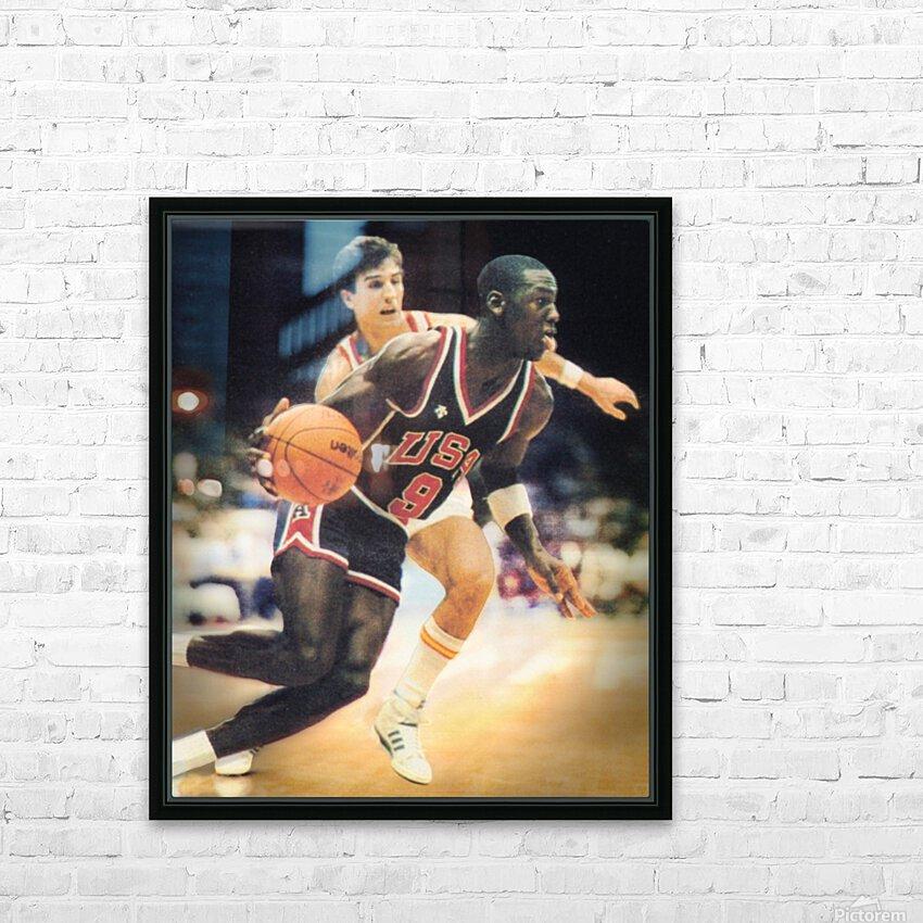 1984 Michael Jordan USA Basketball Art HD Sublimation Metal print with Decorating Float Frame (BOX)