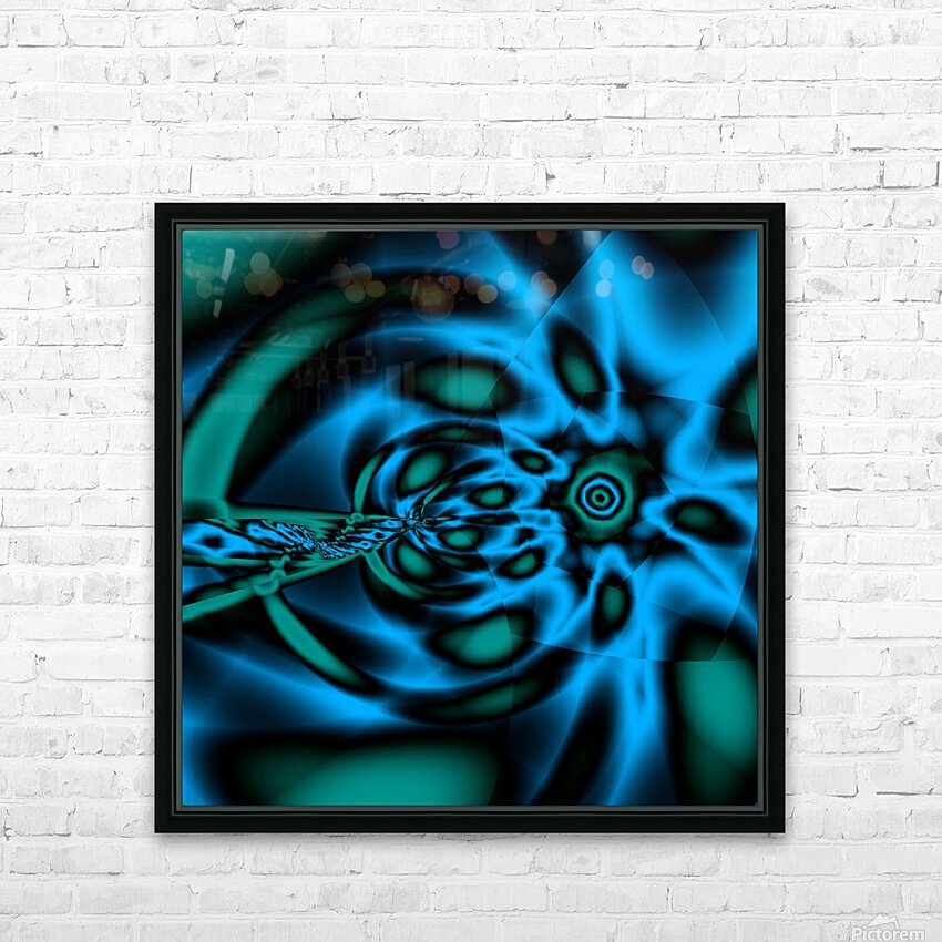 Wormhole approach HD Sublimation Metal print with Decorating Float Frame (BOX)
