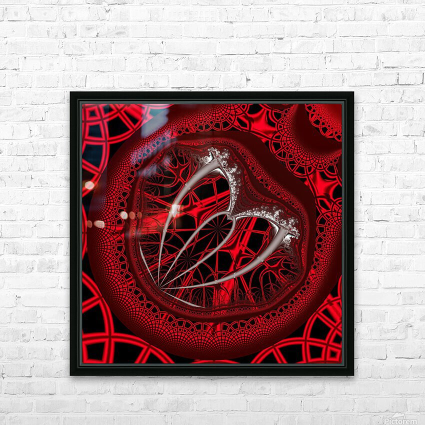 Vampyric cell HD Sublimation Metal print with Decorating Float Frame (BOX)