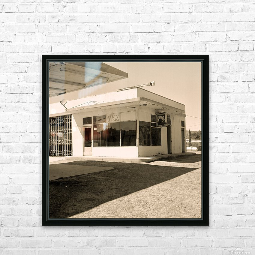 Urban Loneliness - The Gas Station HD Sublimation Metal print with Decorating Float Frame (BOX)