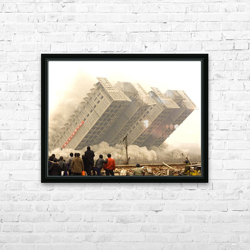 Urban Loneliness - The Crumbling Society HD Sublimation Metal print with Decorating Float Frame (BOX)
