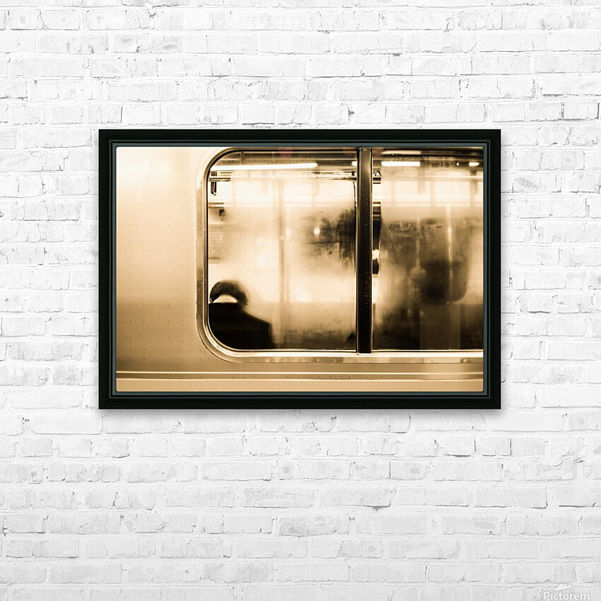 Urban Loneliness - Metro HD Sublimation Metal print with Decorating Float Frame (BOX)