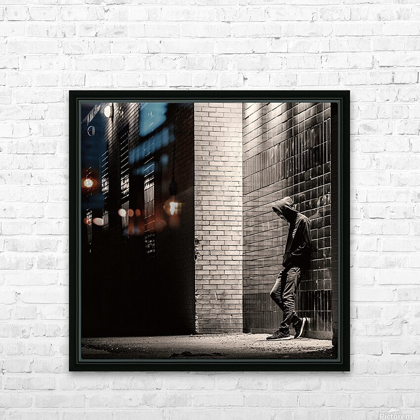 Urban Loneliness - The Lonely Teen HD Sublimation Metal print with Decorating Float Frame (BOX)