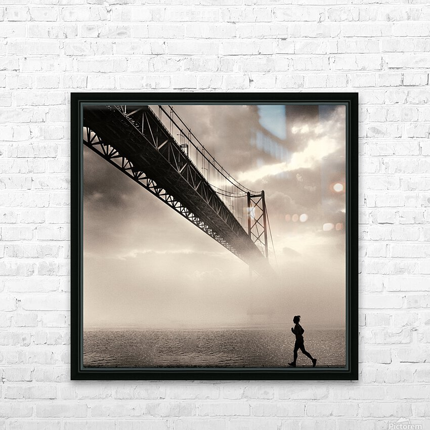 Urban Loneliness - The Bridge HD Sublimation Metal print with Decorating Float Frame (BOX)