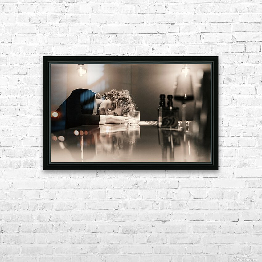 Urban Loneliness - A Lonely Evening HD Sublimation Metal print with Decorating Float Frame (BOX)