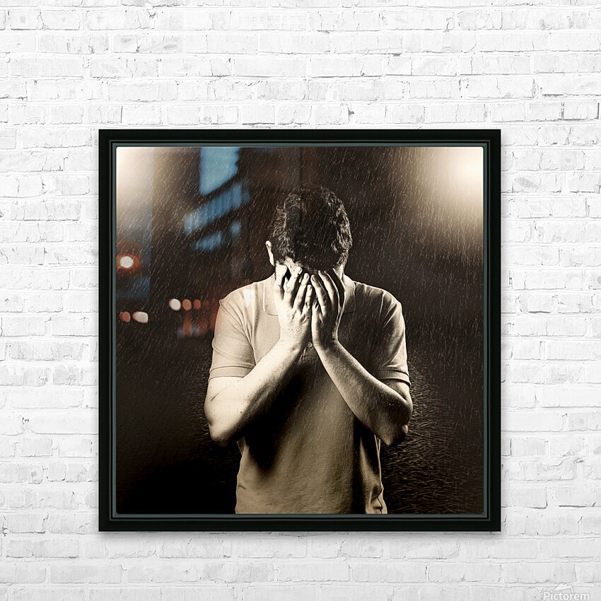 Urban Loneliness - The Hidden Disaster HD Sublimation Metal print with Decorating Float Frame (BOX)