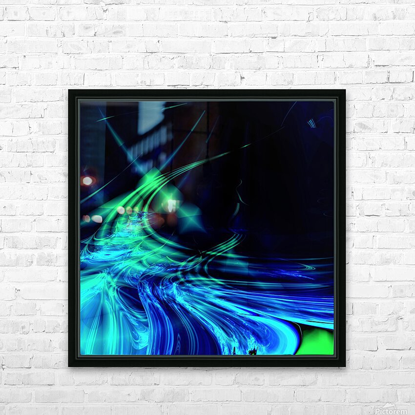 Tsunami HD Sublimation Metal print with Decorating Float Frame (BOX)