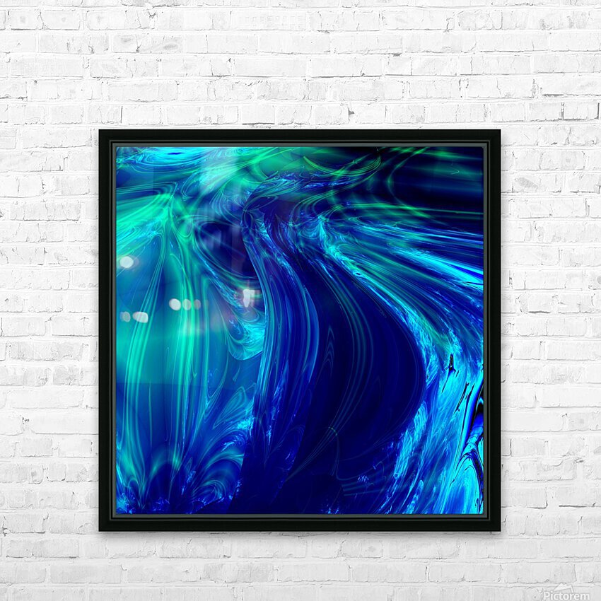 Glasswaves HD Sublimation Metal print with Decorating Float Frame (BOX)
