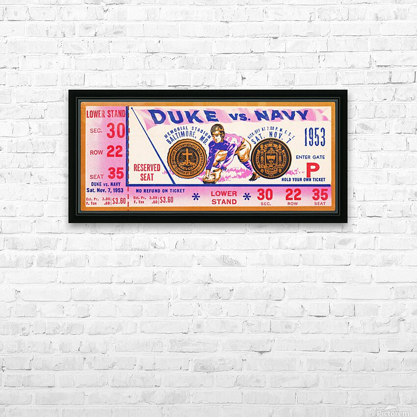 1953 Duke vs. Navy  HD Sublimation Metal print with Decorating Float Frame (BOX)