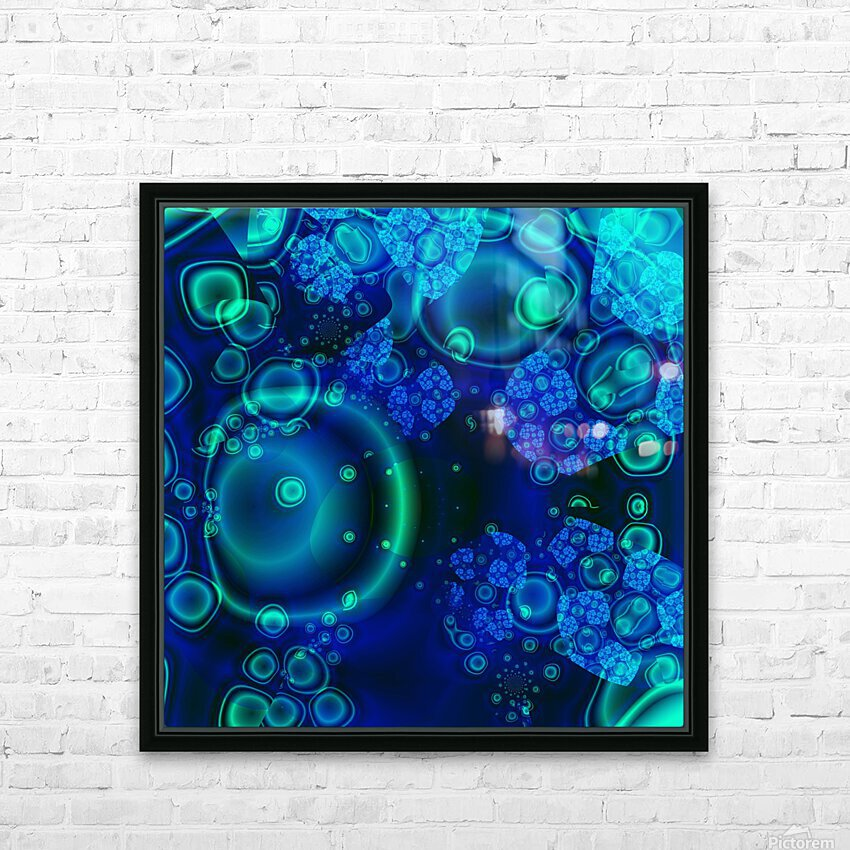 SeaCells HD Sublimation Metal print with Decorating Float Frame (BOX)