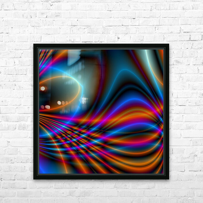 Timestrings HD Sublimation Metal print with Decorating Float Frame (BOX)