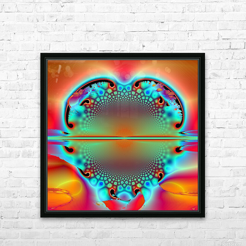 Sun Ryse HD Sublimation Metal print with Decorating Float Frame (BOX)