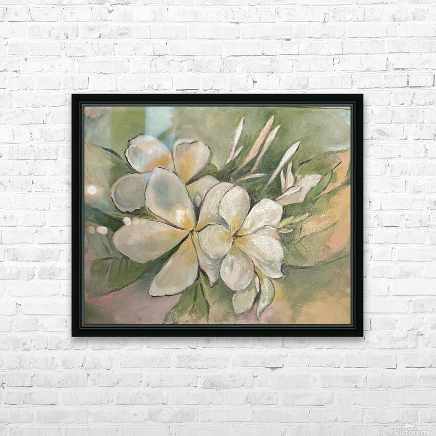 Plumeria  HD Sublimation Metal print with Decorating Float Frame (BOX)