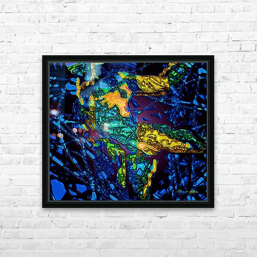 Tangled Transformation 3 HD Sublimation Metal print with Decorating Float Frame (BOX)
