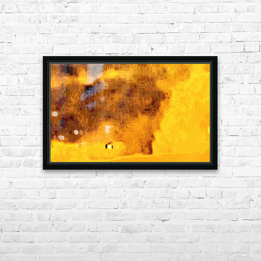 Golden Hieroglyphic HD Sublimation Metal print with Decorating Float Frame (BOX)