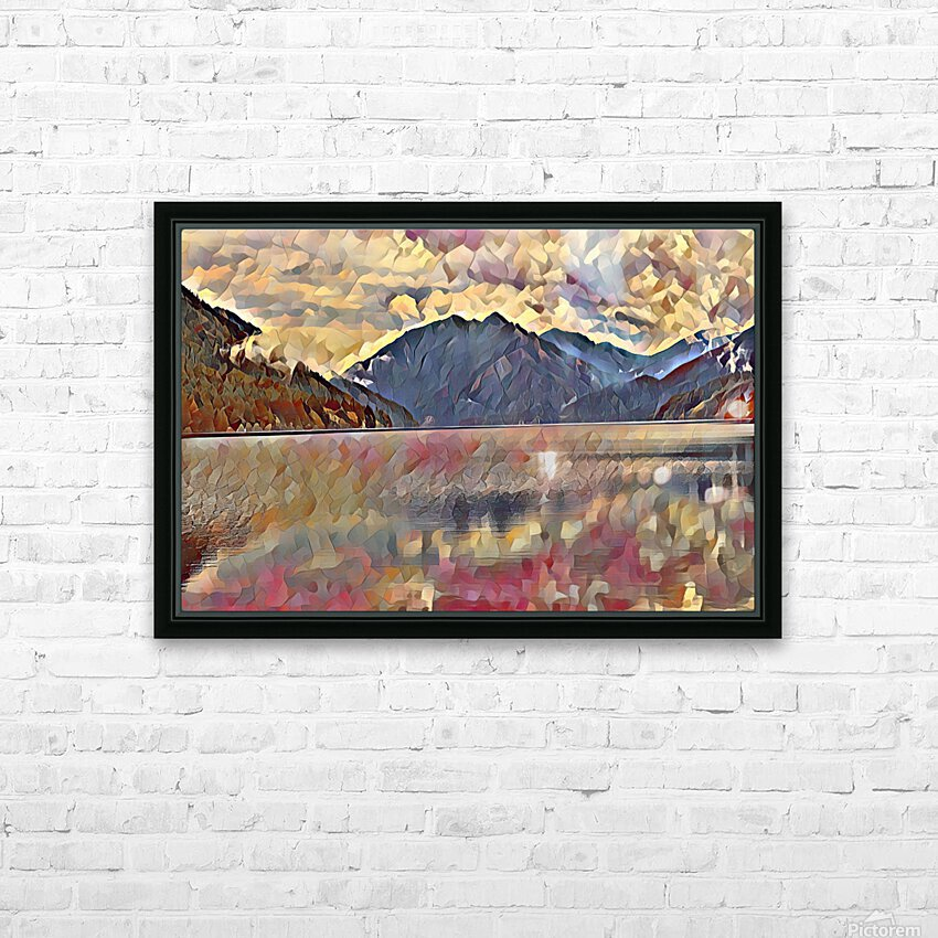 Lake Crescent HD Sublimation Metal print with Decorating Float Frame (BOX)
