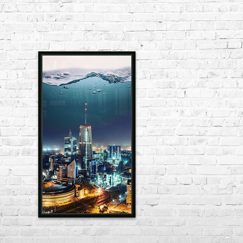 Nairobi HD Sublimation Metal print with Decorating Float Frame (BOX)